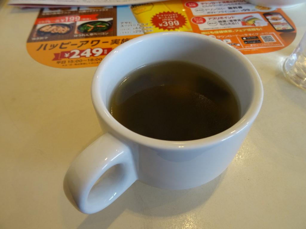 Dセット(249円)のスープ