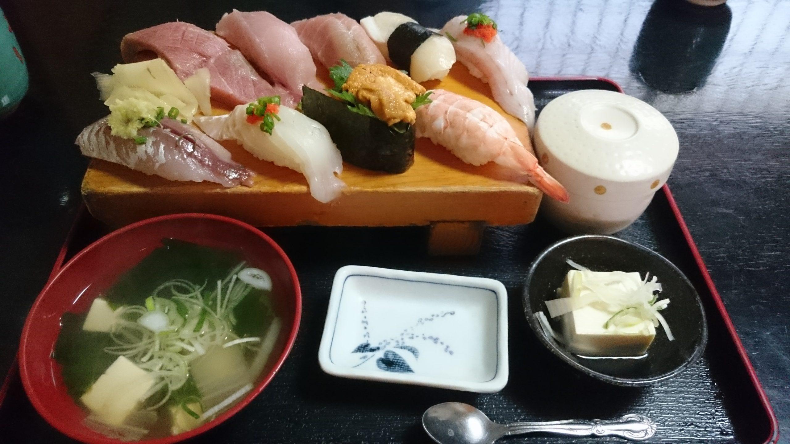 特上にぎり定食(税込1710円)